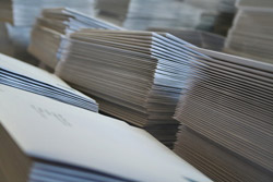 Piles of direct mail letters